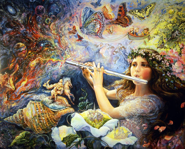 The Enchanted Flute image by Josephine Wall